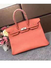 Hermes original togo leather birkin 30 bag H30-1 coral