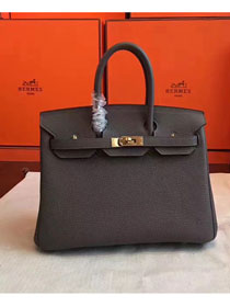 Hermes original togo leather birkin 30 bag H30-1 dark gray