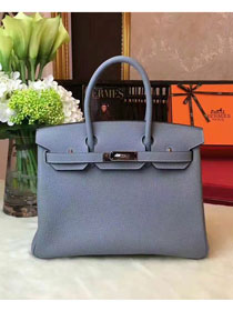 Hermes original togo leather birkin 30 bag H30-1 light blue