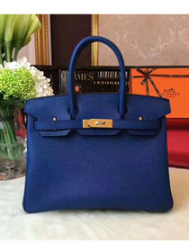 Hermes original togo leather birkin 30 bag H30-1 navy blue
