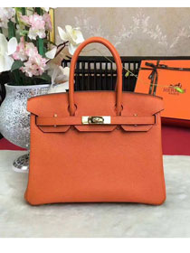 Hermes original togo leather birkin 30 bag H30-1 orange