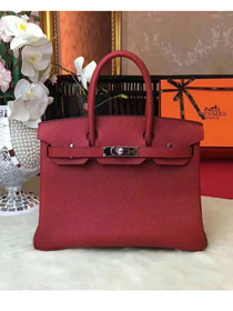 Hermes original togo leather birkin 30 bag H30-1 wine