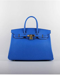 Hermes original togo leather birkin 30 bag H30-1 royal blue