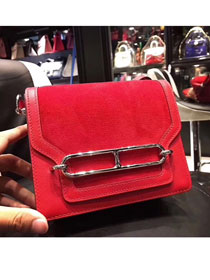 Hermes original suede leather roulis bag R0180 red