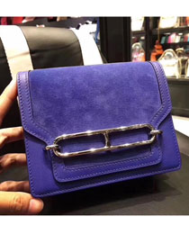 Hermes original swift leather roulis bag R018 electric blue