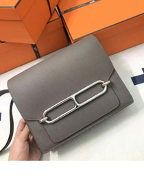 Hermes original swift leather roulis bag R018 gray