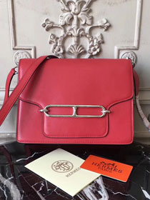Hermes original swift leather roulis bag R018 red