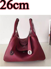 Hermes original top togo leather small lindy 26 bag H26 bordeaux