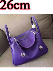 Hermes original top togo leather small lindy 26 bag H26 purple