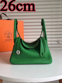 Hermes original top togo leather small lindy 26 bag H26 green