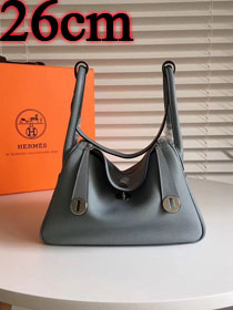 Hermes original top togo leather small lindy 26 bag H26 ice blue