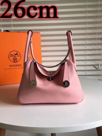 Hermes original top togo leather small lindy 26 bag H26 pink