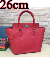 Hermes original togo leather small toolbox handbag T26 red