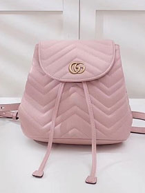 2018 GG marmont original matelasse leather backpack 528129 pink