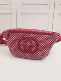 2018 GG original calfskin dapper dan belt bag 536416 red