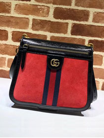 2018 GG original suede ophidia shoulder bag 523658 red