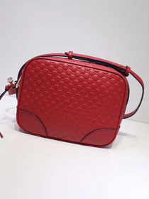 2019 GG original signature calfskin mini shoulder bag 449413 red