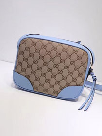 GG original canvas supreme mini shoulder bag 387360 blue