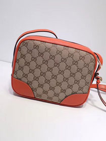 GG original canvas supreme mini shoulder bag 387360 orange