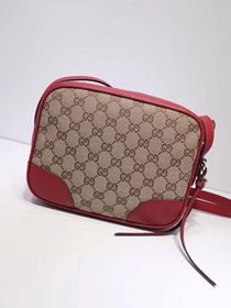 GG original canvas supreme mini shoulder bag 387360 red