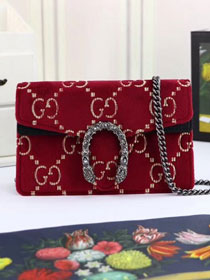 GG original velvet dionysus mini shoulder bag 476432 red