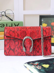 2019 GG original python leather dionysus mini shoulder bag 476432 red