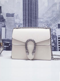 GG original leather dionysus mini shoulder bag 421970 white