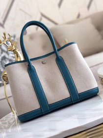 Hermes original canvas large garden party 36 bag G36 blue