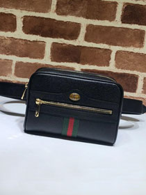 2018 GG original calfskin ophidia supreme small belt bag 517076 black