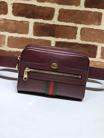GG original calfskin ophidia supreme small belt bag 517076 bordeaux