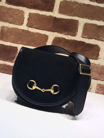 2019 GG original suede leather belt bag 384820 black