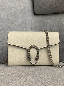 GG original calfskin dionysus mini chain bag 401231 white