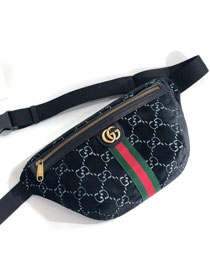 GG original velvet belt bag 574968 black