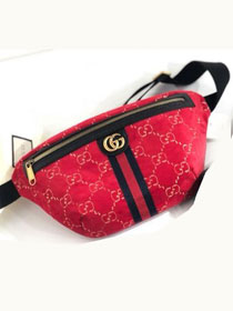 GG original velvet belt bag 574968 red