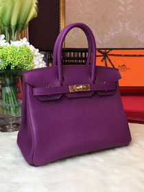 Hermes original togo leather birkin 30 bag H30-1 purple