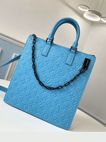 Louis vuitton original monogram empreinte tote bag m4476 blue