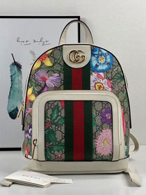 2019 GG original canvas ophidia flora small backpack 547965 coffee