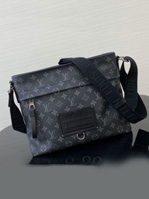 Louis vuitton original monogram eclipse messenger bag M48219 black
