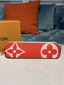 Louis vuitton original monogram pencil pouch elizabeth GI0376 red&pink