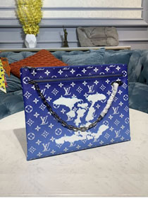 Louis vuitton original monogram clutch M44484 blue