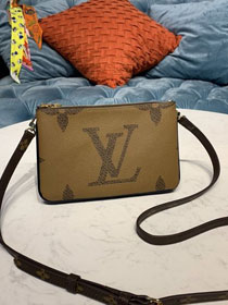 Louis vuitton original monogram double zip pochette M67562