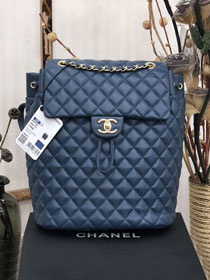 CC original lambskin large backpack A91122 navy blue