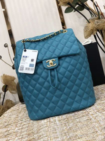 CC original lambskin large backpack A91122 turquoise