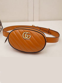 GG Marmont matelasse leather belt bag 476434 caramel