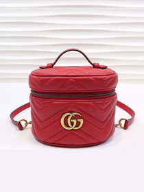 GG original calfskin marmont mini backpack 598594 red