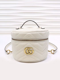 GG original calfskin marmont mini backpack 598594 white