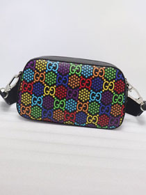 GG canvas small psychedelic shoulder bag 574886 black