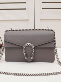 GG original calfskin dionysus small shoulder bag 400249 grey