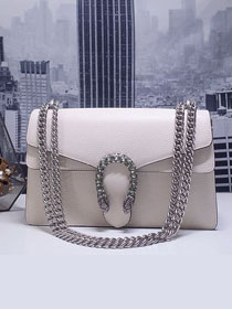 GG original calfskin dionysus small shoulder bag 400249 white