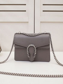 GG original calfskin dionysus mini shoulder bag 421970 grey